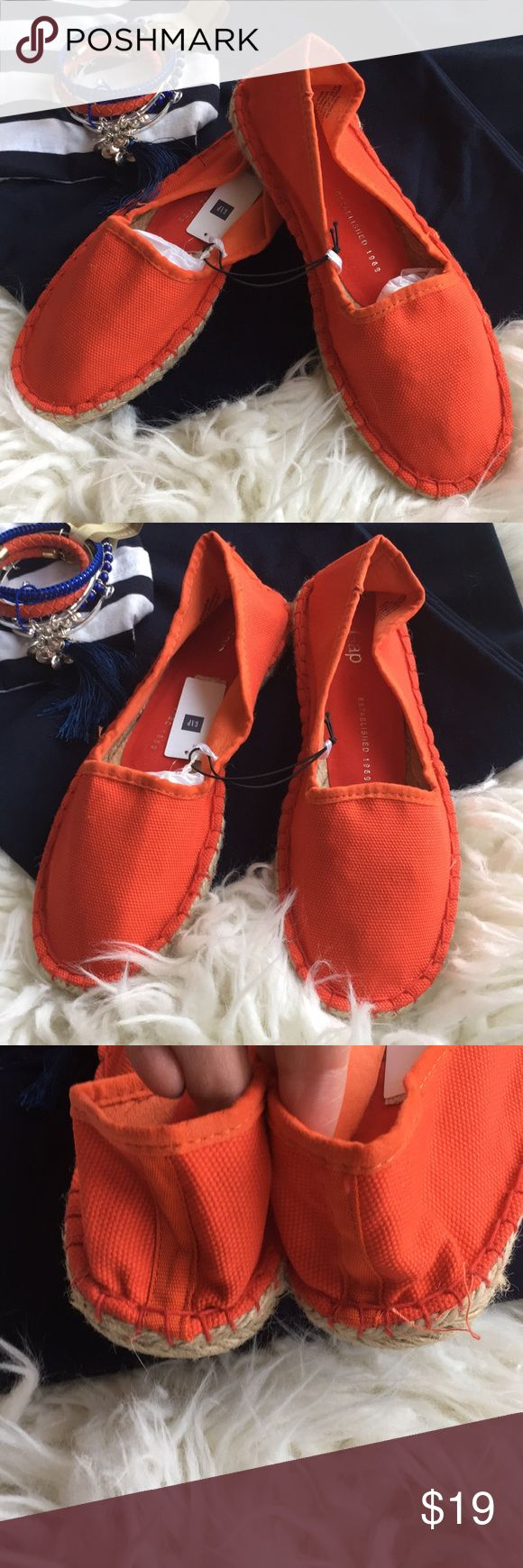 NWT Gap Dark Orange Espadrilles Sz 7 NWT Gap Dark Orange Espadrilles. Sz 7. GAP Shoes Espadrilles