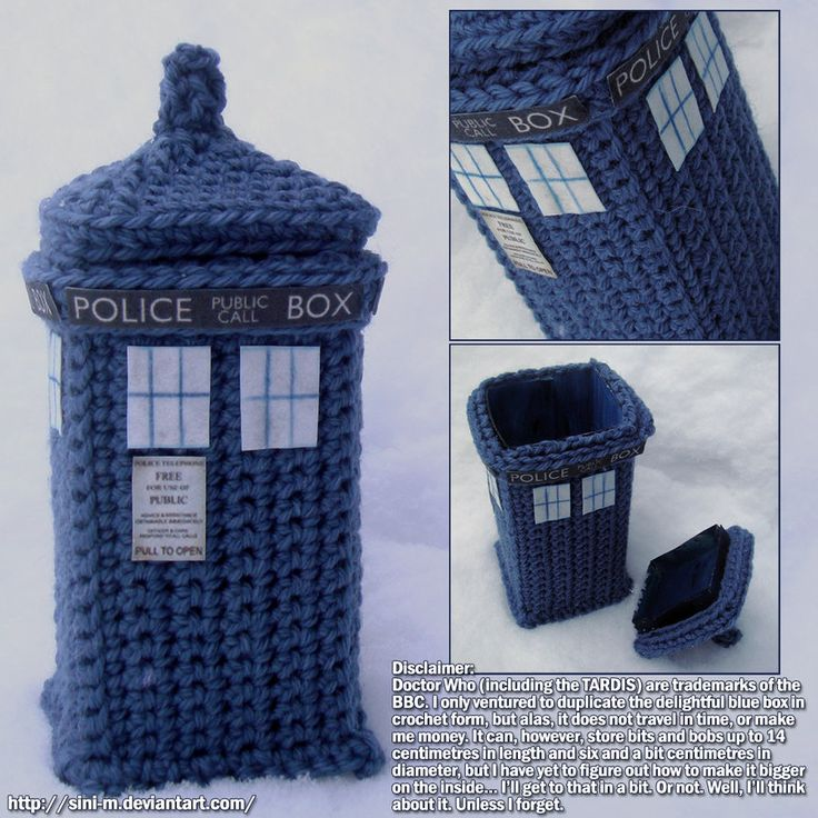 Crocheted Tardis Box by ~Sini-M on deviantART