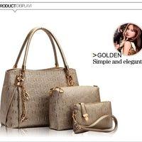 AF041 GOLD Tas wanita import set handbag tas bahu tas selempang gucci