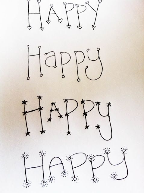 The Happy Homebodies: Hand Lettering