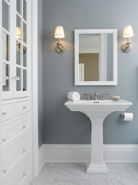 12 Tips for Choosing Paint Colors | Atta Girl Says-- look at bathroom built in...