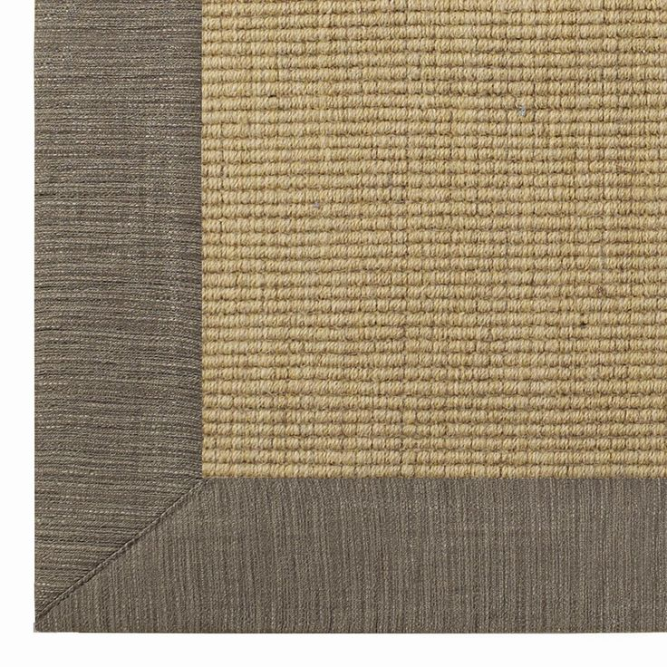 Linen Texture Border Wool Sisal Rug 6 Colors 398 For 30