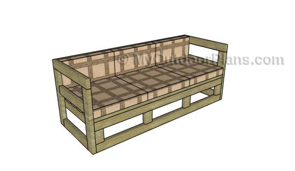 Outdoor Couch Plans | MyOutdoorPlans | Free Woodworking Plans and Projects, DIY Shed, Wooden Playhouse, Pergola, Bbq