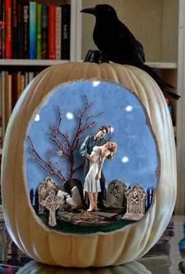 true blood lighted faux pumpkin diorama northmans party vamps halloween true blood style - Halloween Diorama Ideas