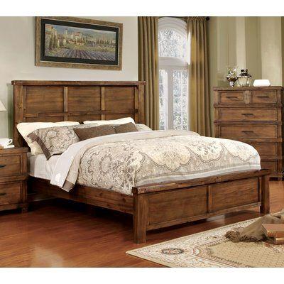 August Grove Hemenway Rustic Panel Bed