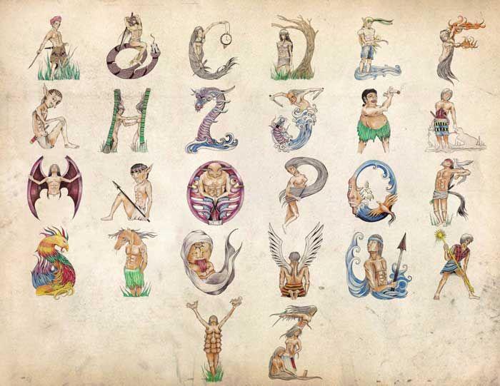 Philippine Mythology Alphabet Set