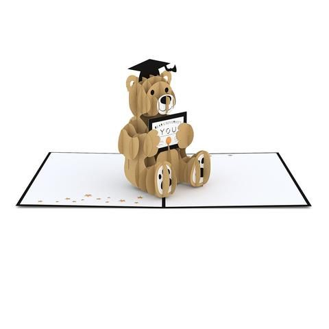 Graduation Bear Pop Up Card greeting card - Lovepop