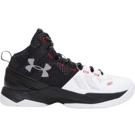 Transform their game and carry on Curry's legacy in the Under Armour® Curry 2. Built with SpeedForm™ technology, this updated model delivers a precision fit, seamlessly wrapping their foot for ultimate support. Charged Cushioning™ absorbs shock upon impact and improves overall responsiveness, making it the ideal choice for serious athletes. Take your athlete's on-court footwear to the next level with the Curry 2.
