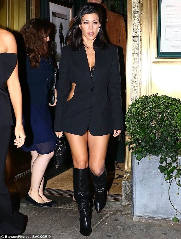 ea8edd8f2bb3 Kourtney Kardashian shows off incredible figure in skimpy blazer dress    Mood.....   Kourtney kardashian, Kardashian show, Kardashian