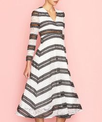 Dahlia black amp white striped lace dress The best black and white dresses for any occasion