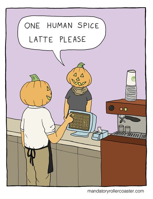 one human spice latte please funny halloween halloween pictures halloween images halloween ideas halloween humor halloween - Halloween Humor Jokes