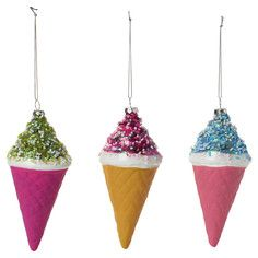 Ice Cream Ornament Set Of 3