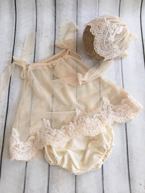 Newborn Lace Romper set