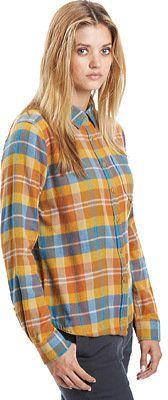 Women's Woolrich Rich Flannel - Fig Herringbone Long Sleeve Shirts - Shop for women's Shirt - Fig herringbone Shirt