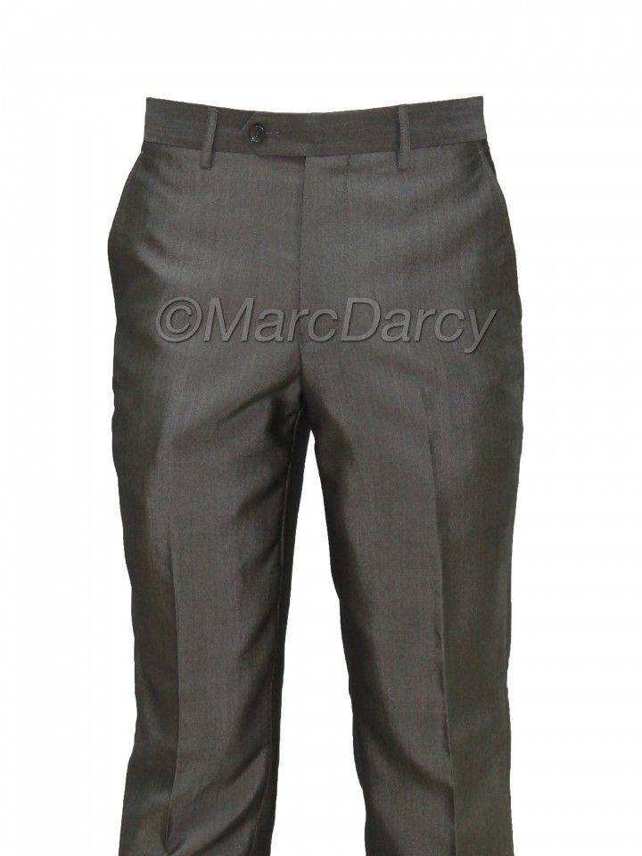 Mens Grey Regular Fit Trousers