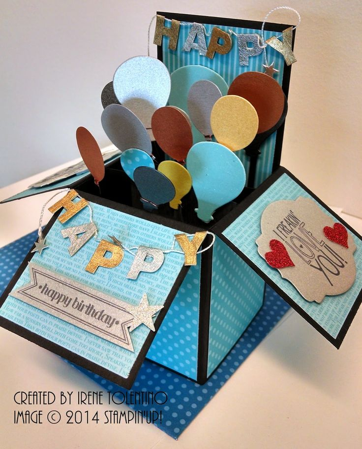 Relax. Make a Card: Card in a Box - Birthday Balloons