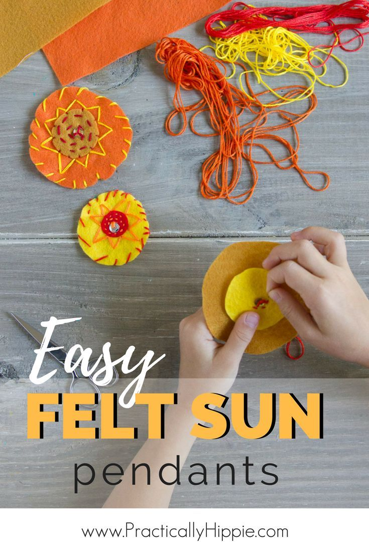 Easy Felt Sun Pendant For Summer Diy Crafts Home Decor
