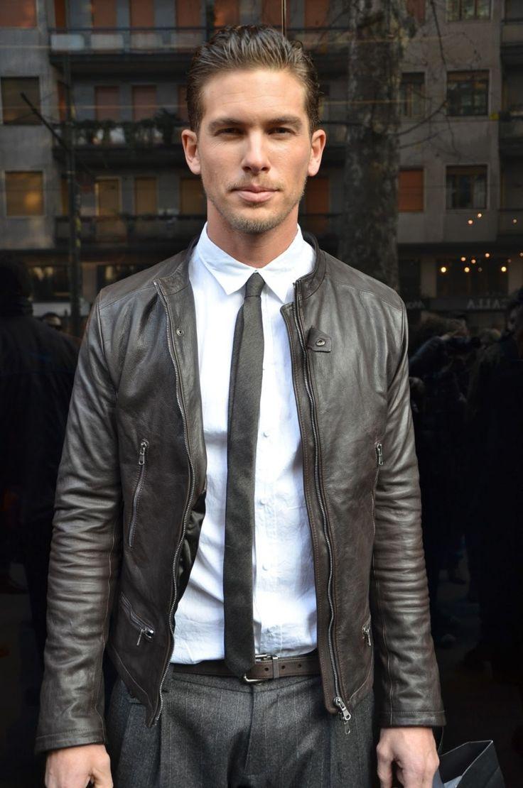 Black jacket with tie