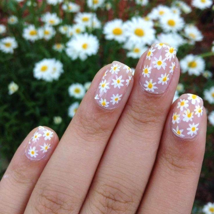 Nail Art 3591 Best Nail Art Designs Gallery Bestartnails Com Air Nails Cheerful Nails Daisy Nails Flower In 2020 Daisy Nails Spring Nail Art Nail Art Summer