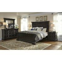 Molasses Classic Traditional 6 Piece California King Bed Bedroom Set - Caldwell