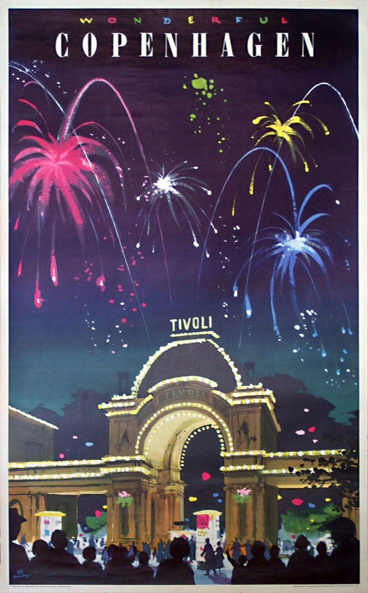 Vintage poster:      Wonderful Copenhagen - Tivoli  by Asmussen, Des (1913-2004)