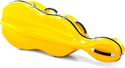 Yellow cello case