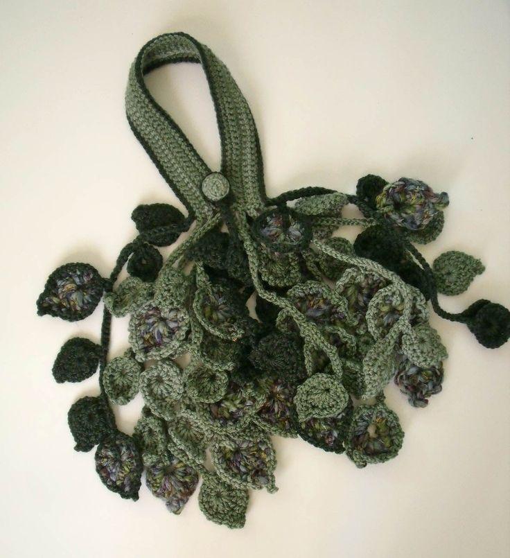 449 Best Crochet Leaves Vines Images On Pinterest Crocheted