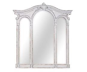 Specchio con cornice in legno Finestra - 95x95x4 cm