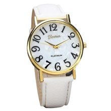 Hot Hothot Sales Women Retro Digital Dial Leather Band Quartz Analog Wrist Watch…