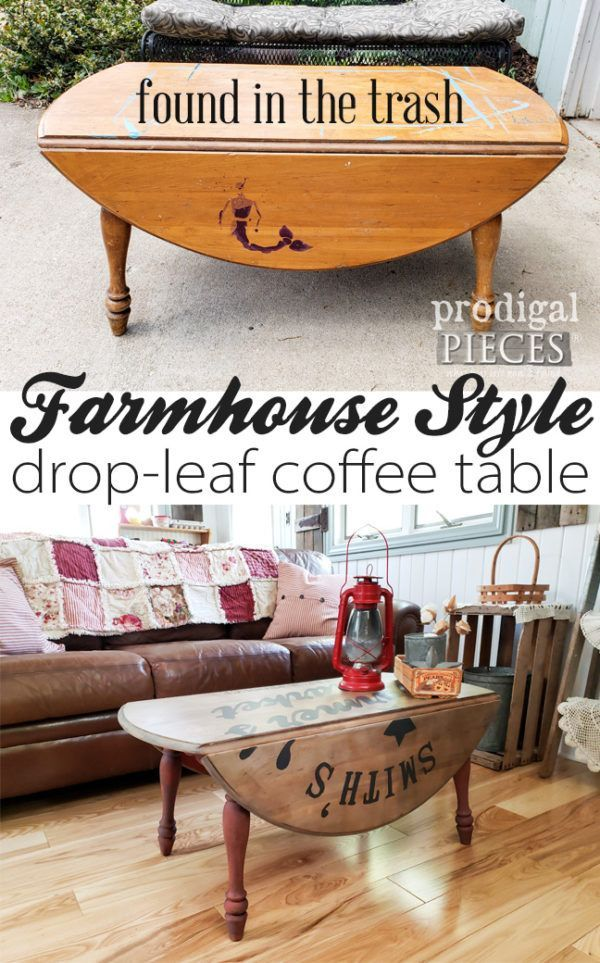 Home Decor Farmhouse Dropleaf Coffee Table With Typography Coffee Table Makeover Diy Furniture Repurposed Furniture