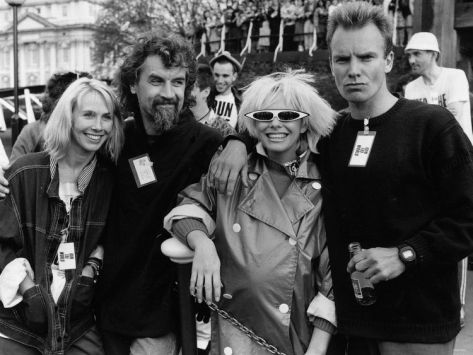 Sting, Wife Trudi Styler, Billy Connolly and Pamela Stephenson at Sports Aid Run the World, 1986 Photographic Print at eu.art.com