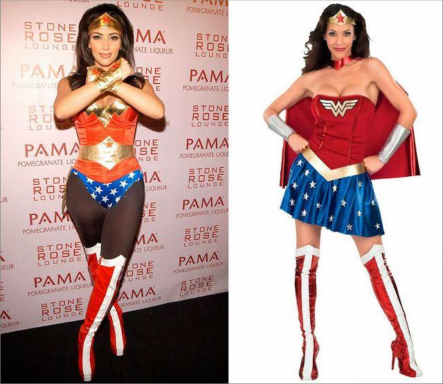 Kim Kardashian disfraz mujer maravilla y, disfraz de mujer maravilla