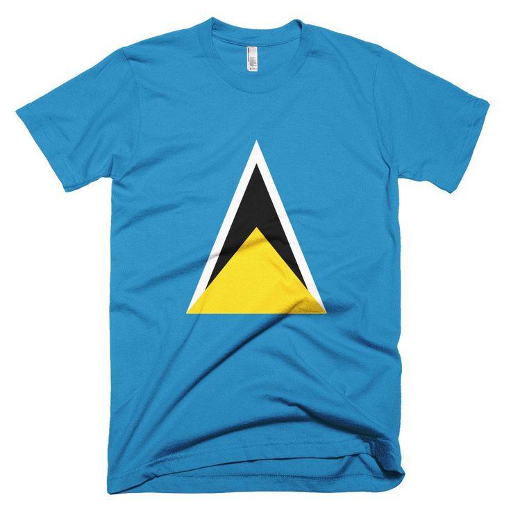 St. Lucia Flag - Short sleeve men's t-shirt – Properttees
