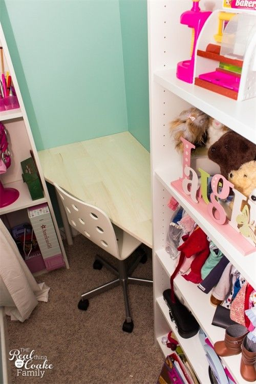 DIY Kids Corner Desk ~ A Partial IKEA Hack Desk - Real Coake