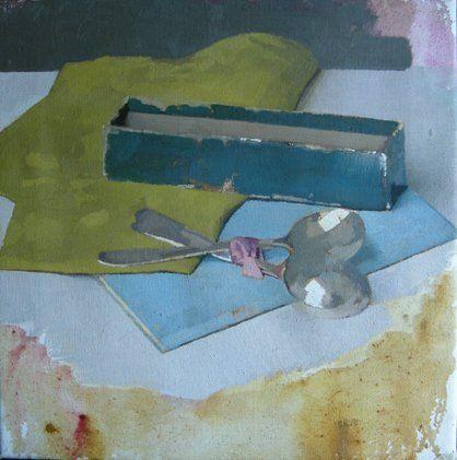 DIARMUID KELLEY - UNTITLED (TEASPOONS), 2011 oil on linen http://www.waterman.co.uk/artists/97-Diarmuid-Kelley/works/2114/