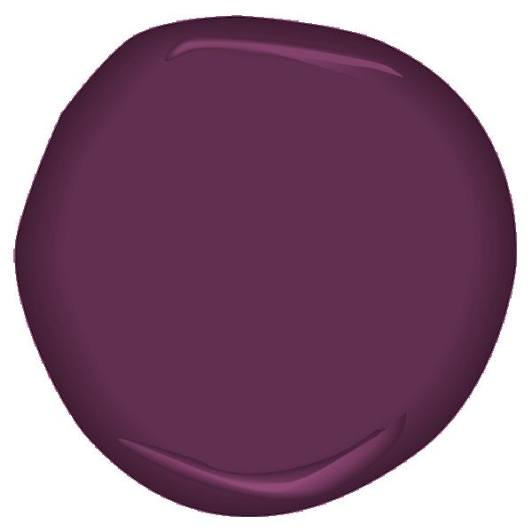 "Benjamin Moore CSP-470 elderberry wine, one of Young House Love's colors.  Unfortunately, not common in large amounts in the ""abandoned clothing"" stream."