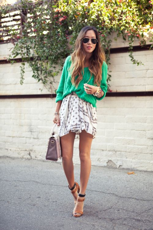 love the green sweater!