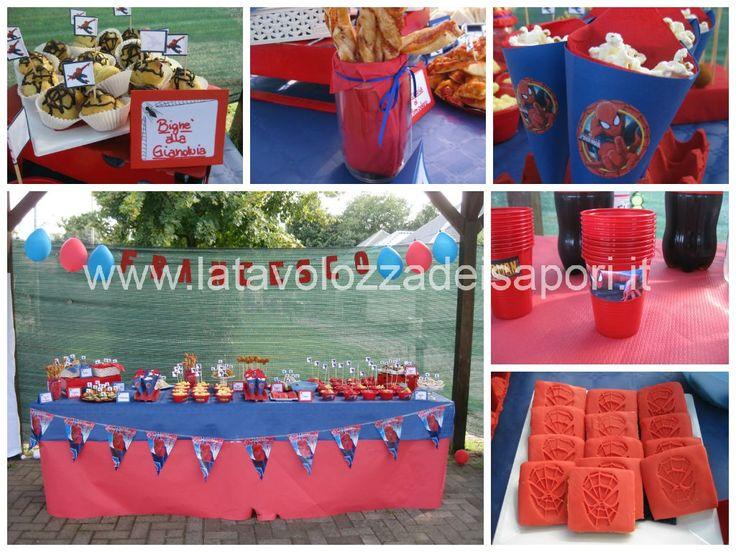 Festa di Compleanno a Tema Spiderman  http://www.latavolozzadeisapori.it/buffets/festa-di-compleanno-a-tema-spiderman