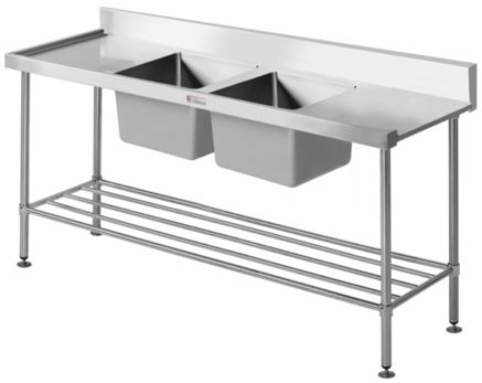 Commercial Stainless Steel Bench - Simply Stainless SS09.1650 Dishwasher Inlet Sink Bench - www.hoskit.com.au | Hoskit Online Store | Sydney, Melbourne, Perth, Brisbane