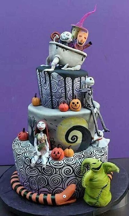 Cake Wrecks - Home - Sundays Sweets: Tim Burton Treats! Nightmare Before Christmas By Dina Cimarusti Cakes