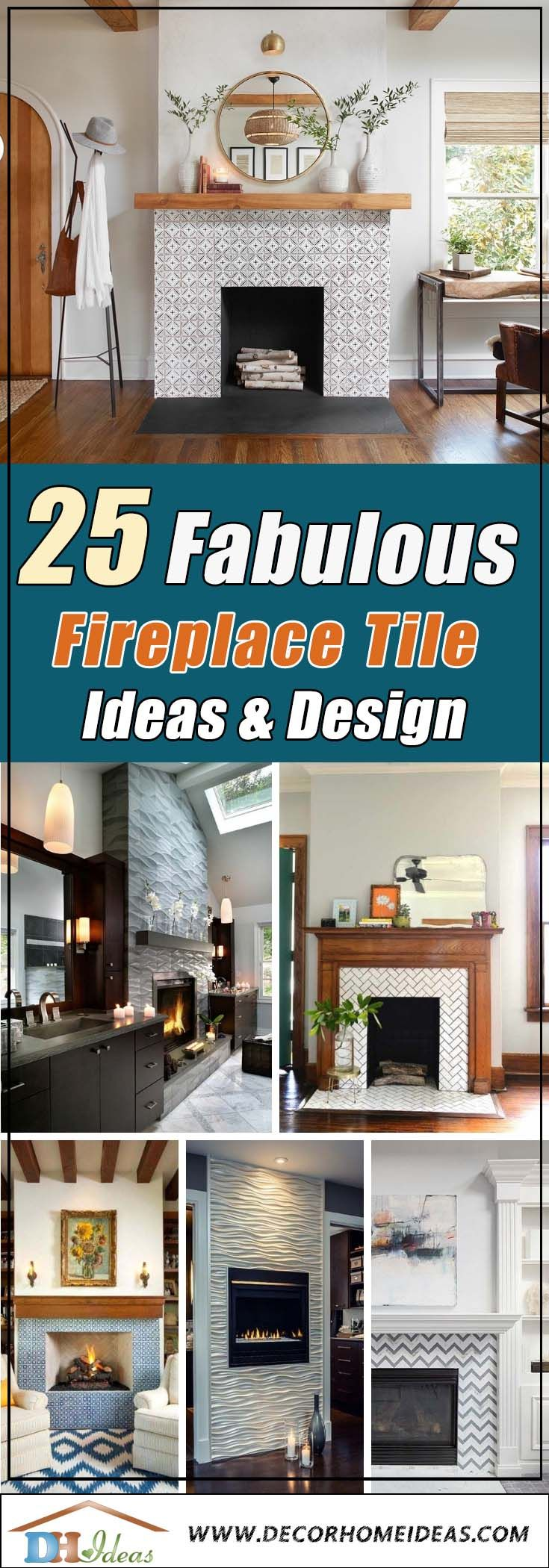 26 amazing fireplace tile ideas