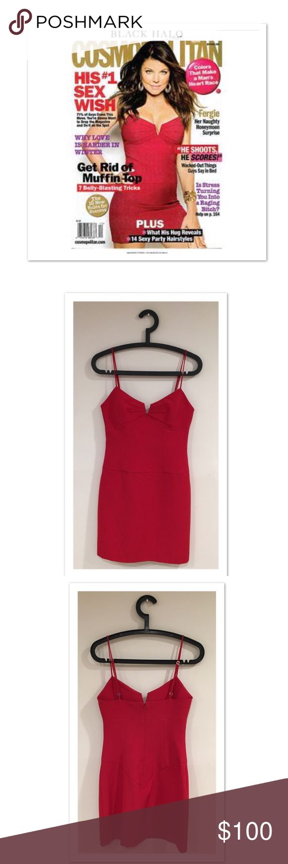 Black Halo Red Mini Dress -Worn by Fergie in Cosmo STUNNING red dress by Black Halō, a celebrity favorite! Adjustable spaghetti straps. BNWT. NO FLAWS! PERFECT date night or girls night dress!! 🍹 Cocktails anyone?!?😁 Black Halo Dresses Mini