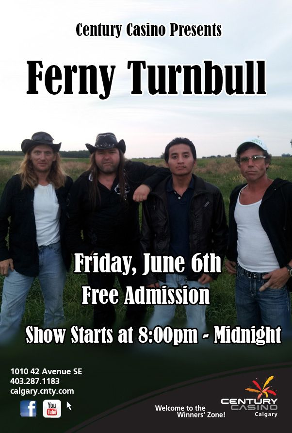 June 6th @CenturycasinoCa presents  Ferny Turnball! One night only with  FREE admission