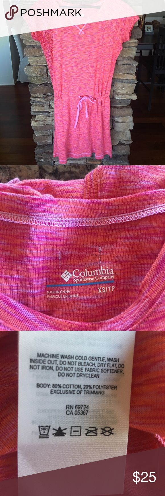 """Columbia Dress Draw string dress. Measures 35"""" in length. Hits me a few inches above the knee, I am 5'3"""" tall. NWOT. See matching jacket posted in my closet. Smoke free/Pet free home Columbia Dresses Midi"""