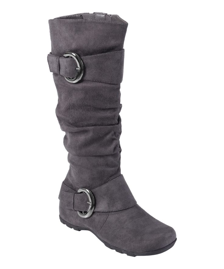 Fashion Womens Suede Mid Calf Boots With Wedge And Zipper Design