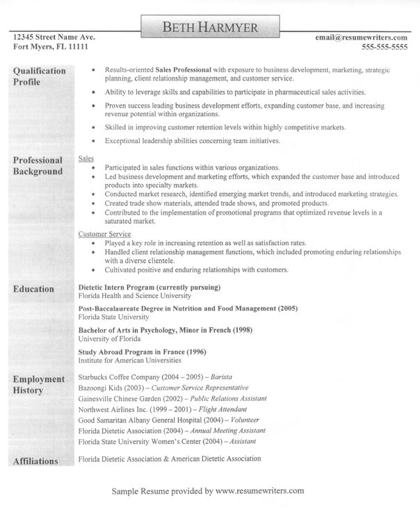 Military Resume Writers sample military experience on resume A Sample Resume For Someone In Sales Sales Resume Resumewriters