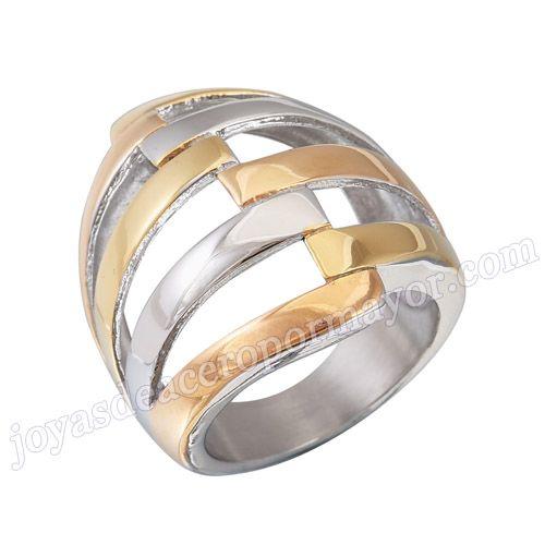 Material: Acero Inoxidable   Nombre:Anillo oro plateado de nuevo modelo de acero inoxidable 316l de forma  mascara, al por mayor   Model No.:SSRG085
