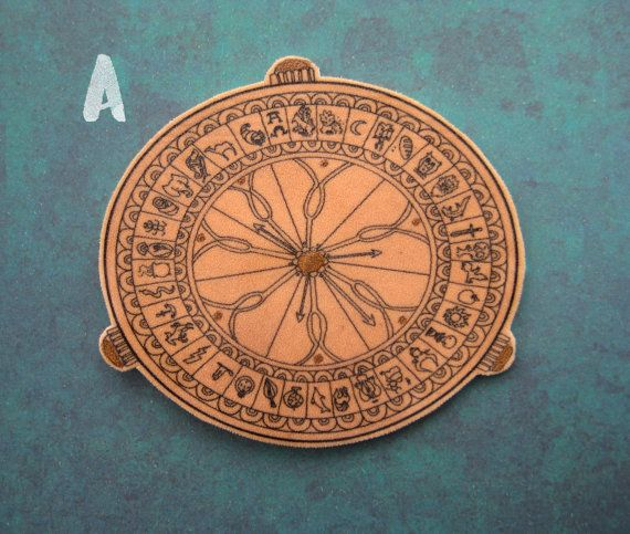His Dark Materials  brooch  The Alethiometer/ by HannahHitchman
