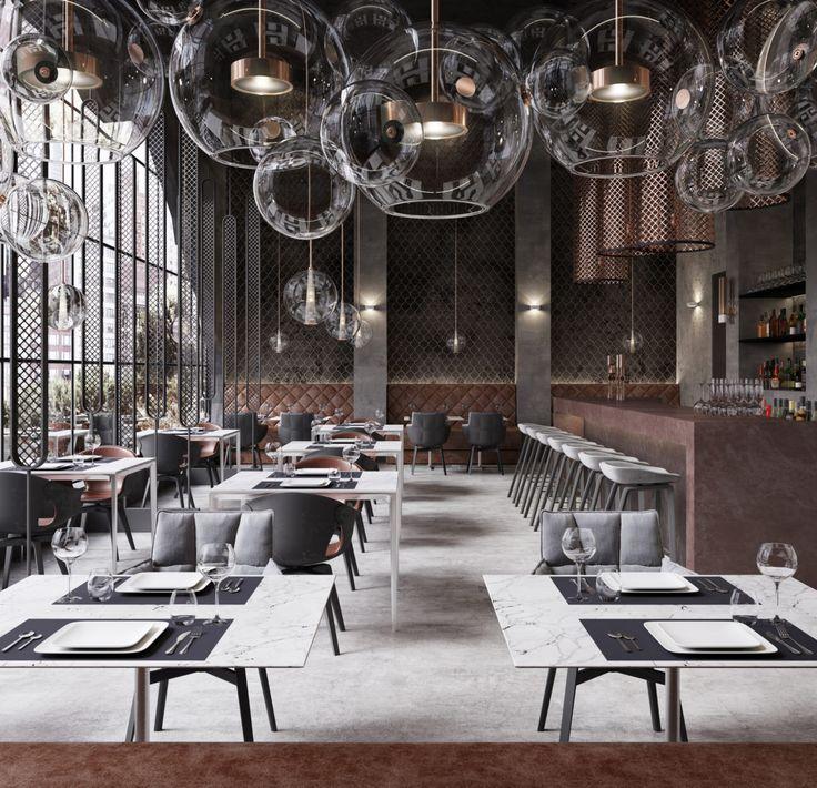 Bar - Restaurant Richter, USA - https://interiordesign.io/bar-restaurant-richter-usa/