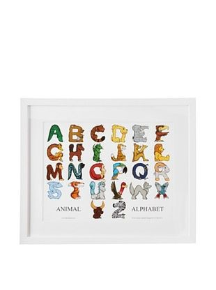 Baby Baazaar A-Z Animal Alphabet Framed Wall Art